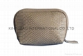 Synthetic leather PU crocodile pattern Shell shape lady cosmetic bag