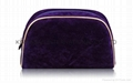 Velvet purple lady cosmetics bag,makeup
