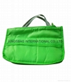 Nylon ample storage compartment organizer bag green colour