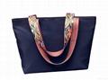 Nylon large size lady tote shopper bag