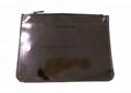 Shiny PU lady clutch bag with 1 zipper