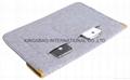 Novelty felt ipad cover,felt ipad holder cover grey colour