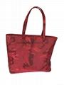 China fashionable red camouflage nylon lady tote shoulder bag,nylon tote handbag