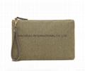 Shiny PU/matt PVC fashion lady clutch purse bag with wrist band handle