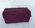 Women's nylon letters quilted cosmetic bags