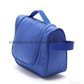 Polyester travel toiletry bag in blue colour