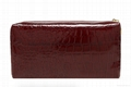 Stone pattern faux leather women's cosmetic cases red colour
