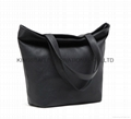 Faux leather PU women's beauty tote handbag bags