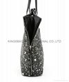 Top grade faux leather PU women's tote handbag bags black colour