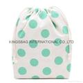 Portable cotton with dots prints