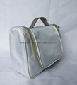 1680D polyester portable travel toiletry bags with silver metal hook inside