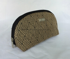 PP woven shell shape promotion gift women's cosmetic bag with metal plate