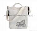 Canvas leisure women's tote shopper bag with long strap