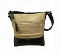 PP woven with PU fashion women's leisure shoulder bags