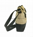 PP woven combined with PU beauty lady shoulder sling bag
