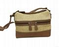 Fashion beauty women's double open shoulder sling bag pp woven made  1