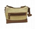 Fashion beauty women's double open shoulder sling bag pp woven made  3