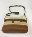 Fashion beauty women's double open shoulder sling bag pp woven made  4
