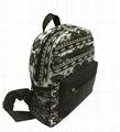 Full printed canvas children school backpack bags  2