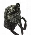 Full printed canvas children school backpack bags  3