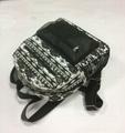 Full printed canvas children school backpack bags  4