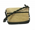 PP woven combined with PU fashion women's sling bag shoulder message bag