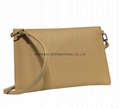 Faux leather PU women's clutch handbag