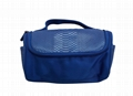 Imitation leather with polyester travel unisex toiletry makeup bags