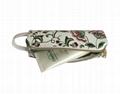 Floral prints PVC lady pencil pouch bag cosmetic pouch bags