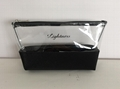 Clear PVC with PU promotion cosmetics gift makeup bags