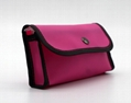 Colourful PVC promotion small pouches pink colour