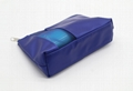 Bright PU lady beauty cosmetic pouch bag blue colour
