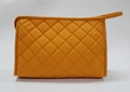 Nylon diamond quilted fashion women's makeup pouch bags