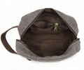 Canvas combined with leather men's toiletry bags makeup bags
