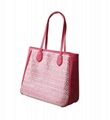 PU combined with PP woven women's tote shopper bag