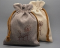 Promotional jute drawstring bag