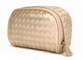 PU real woven vogue women's amenity bag ,clutch bag