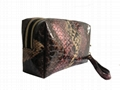 Snake pattern vogue lady clutch purse