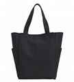 Heavy duty canvas with coated lady tote shopper bag
