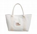 Heavy duty coated canvas women's tote shopper bag