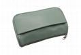 Vogue plain PU leather lady clutch amenity bags