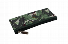 Plantain leaf polyester pencil pouch