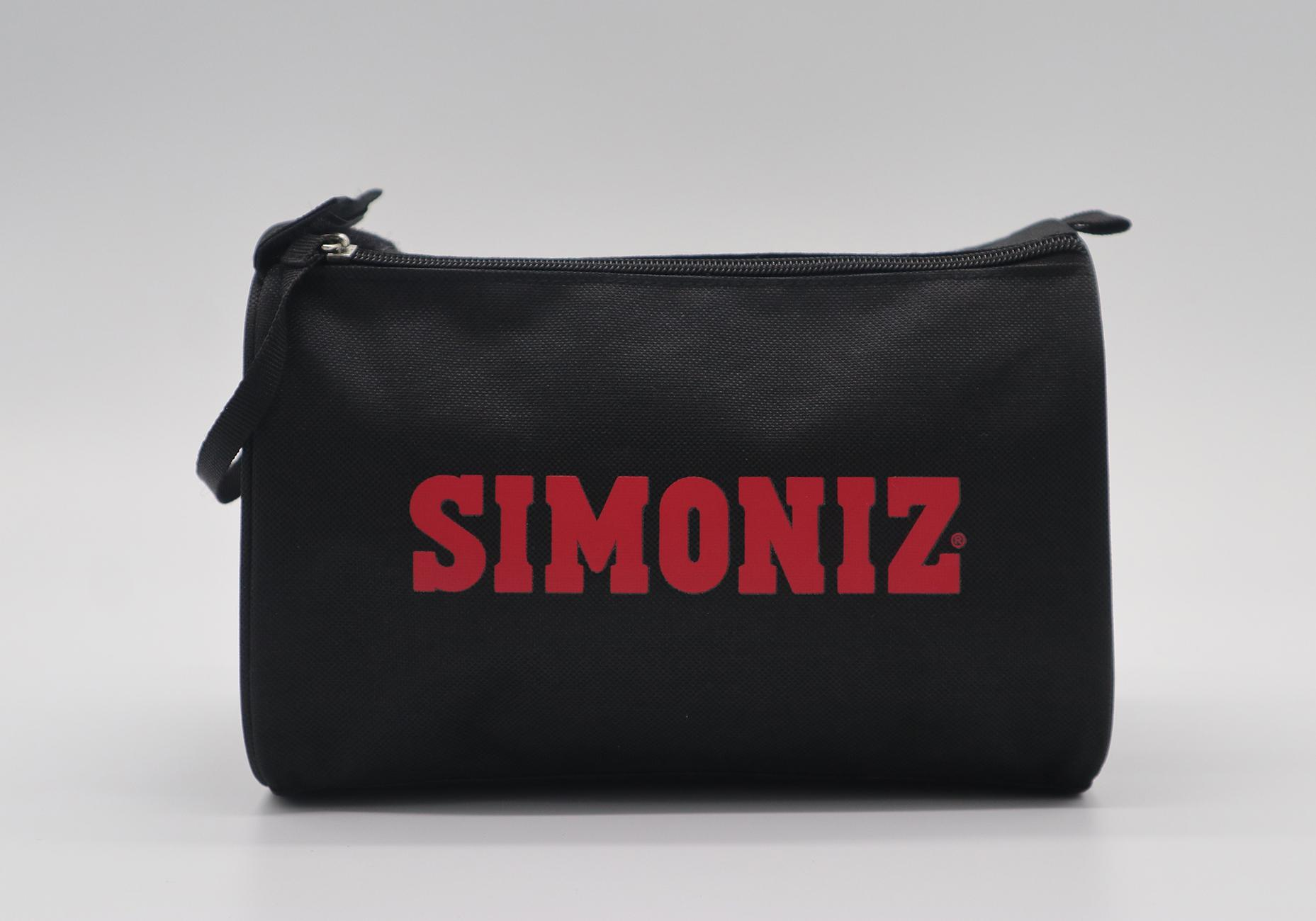 600D polyester toiletry kit bag in black colour with double zippers  1