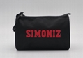 600D polyester toiletry kit bag in black colour with double zippers