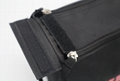 600D polyester toiletry kit bag in black colour with double zippers  4