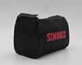 600D polyester toiletry kit bag in black colour with double zippers  3