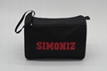 600D polyester toiletry kit bag in black colour with double zippers  2