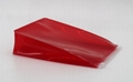 Promotion cheap small 0.3mm clear PVC pouch in red colour