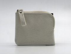 Unique design PU leather small coin purse beige colour for kids