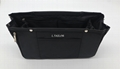 Multifunction nylon made expand capacity home organiser tool bag in black colour